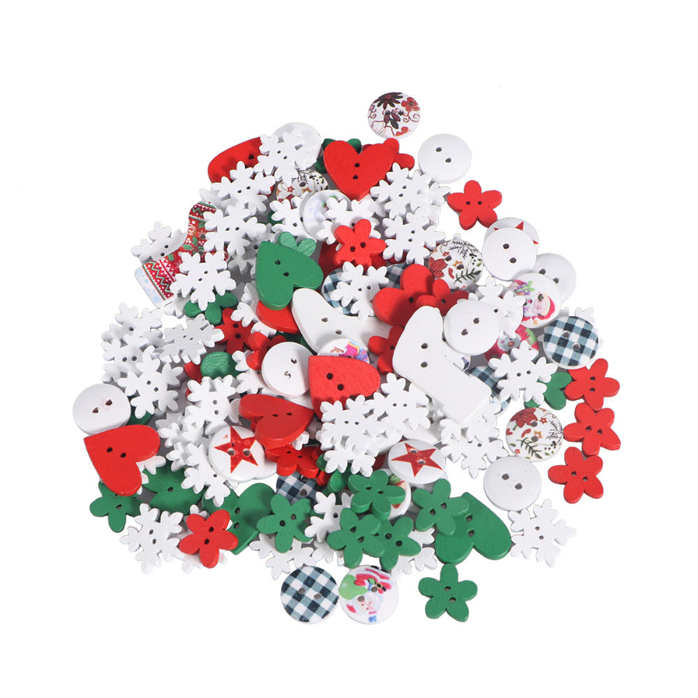Christmas Mix Buttons (2)  50pc