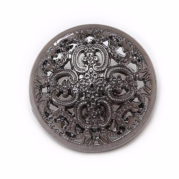 Antique Hollow Metal Buttons Many Sizes 5pcs