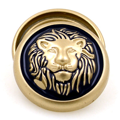 """Harrod"" Majestic Lion Head Button 17/23mm 10pc"