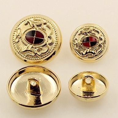 """Aapo"" Classical Metal Button 15/20mm 10pcs"