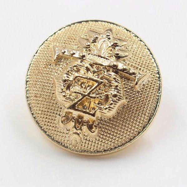 """Rada"" Gold Metal Button 25mm 10pcs"