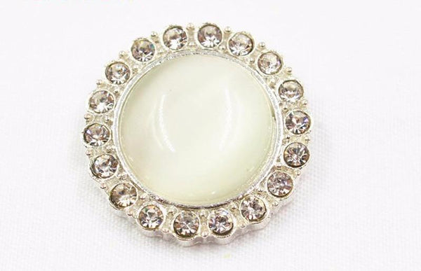 """Nadia"" Craft Pearl and Rhinestone Button 24mm 1 pcs"