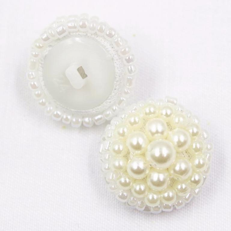 """Vana"" Mosaic glass bead button 19mm 1pcs"