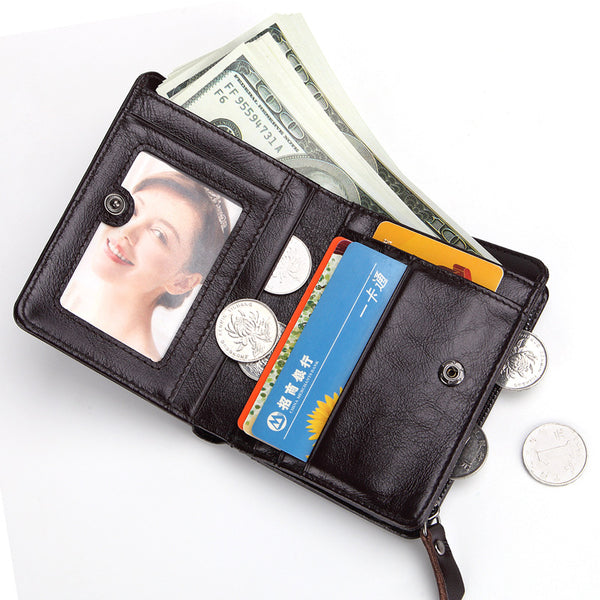 RFID Slim Leather Wallet