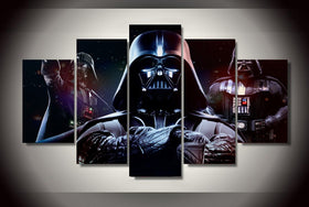 3 Darth Vader Picture HD Print on Canvas