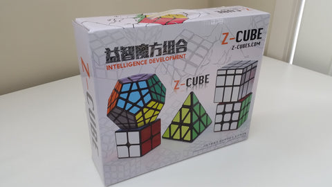 Z-Cube set of 5 Speed Puzzles - Gift Box - Z - Cubetopia - 1