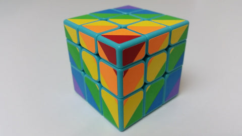 YJ Inequilateral Rainbow Cube 3x3x3 Shape and Sticker Mod - YJ - Cubetopia Australia - 1