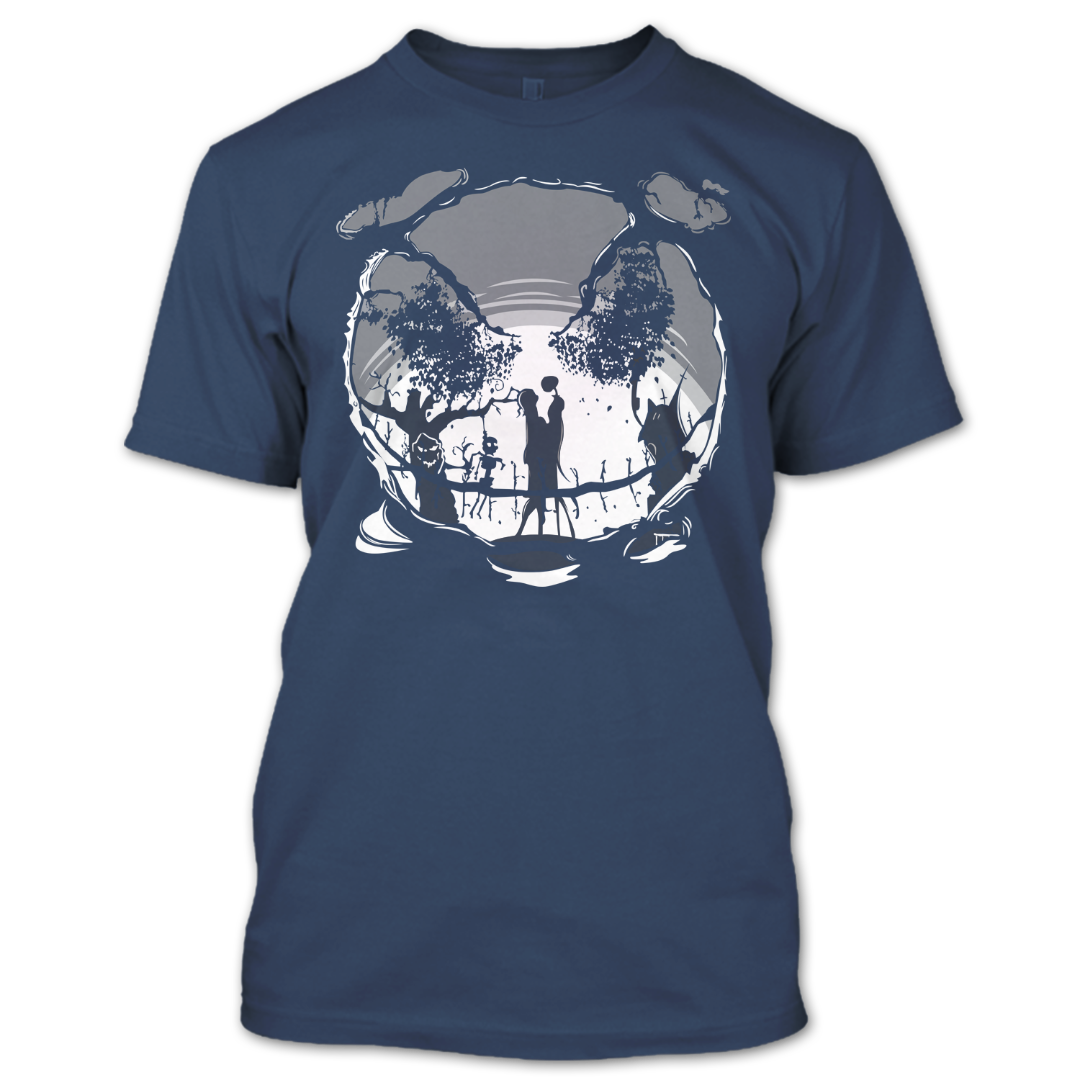 Jack Skellington Nightmare Before Christmas T Shirt, Halloween T ...