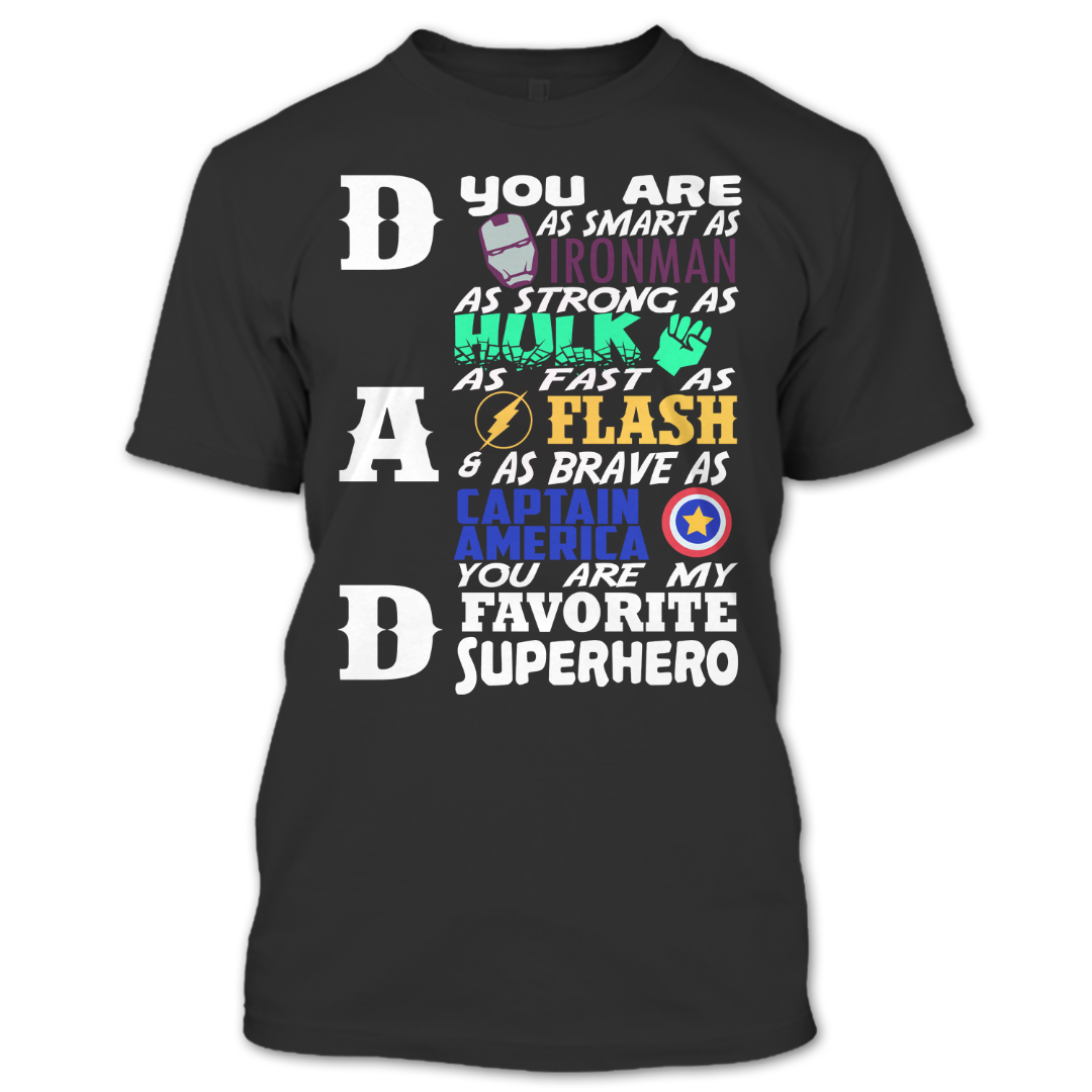 Father/'s Day Dad Super Hero Shirt