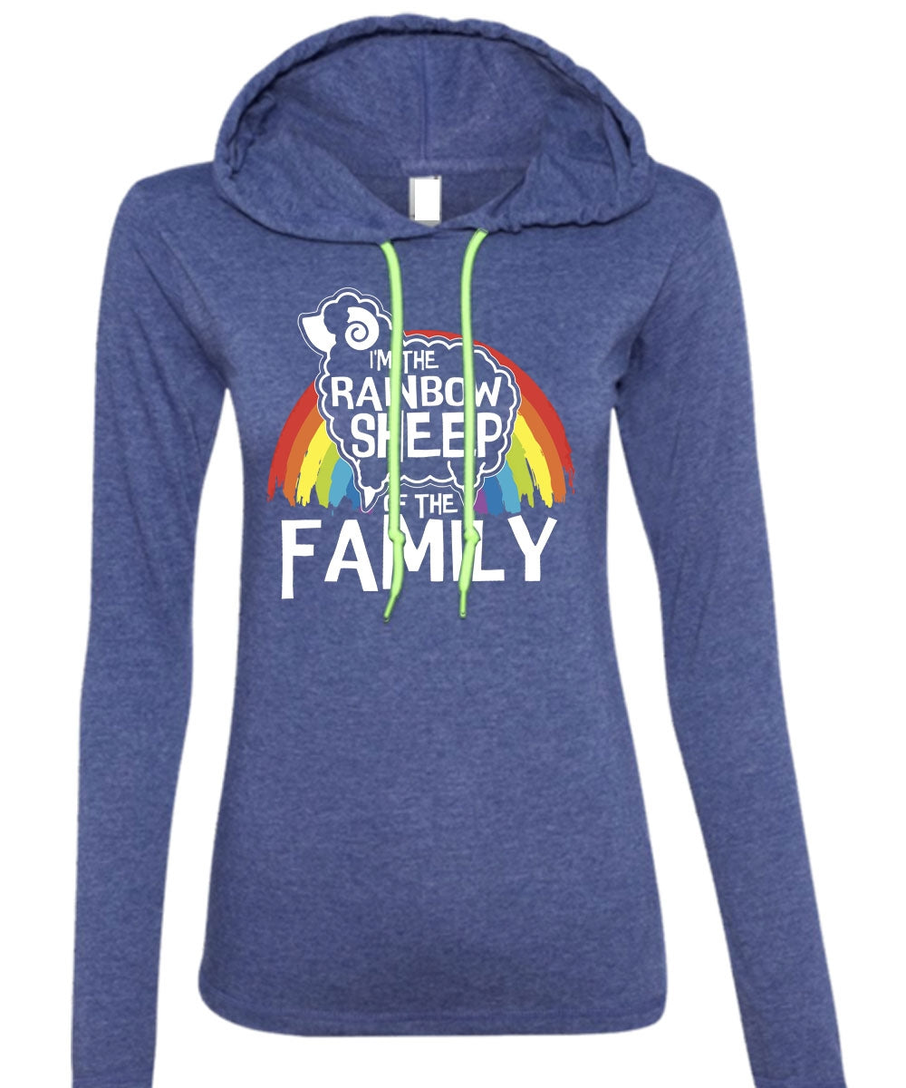 81dabd49 A black t-shirt with the shopify logo · I'm The Rainbow Sheep Of The Family  ...
