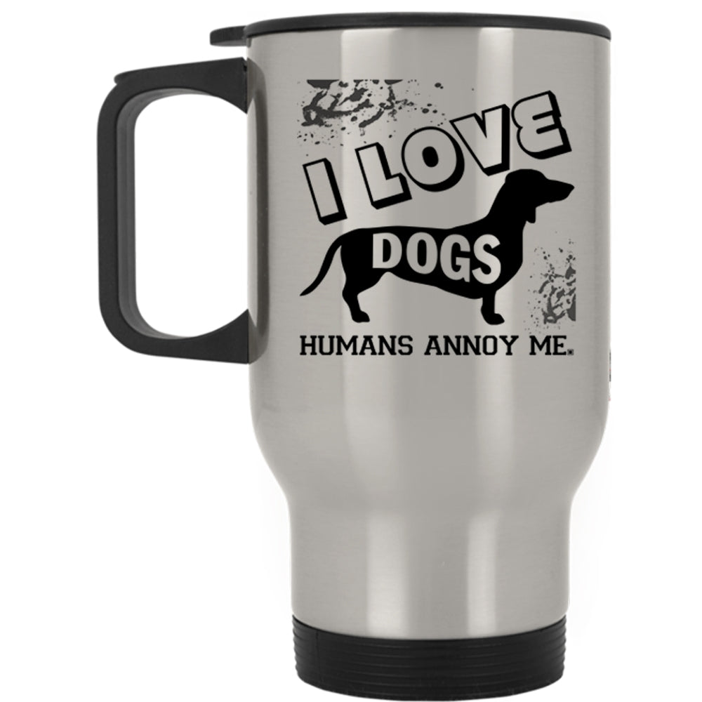 Cute Gift For Dog Lovers Travel Mug I Love Dogs Mug Premium Fan Store