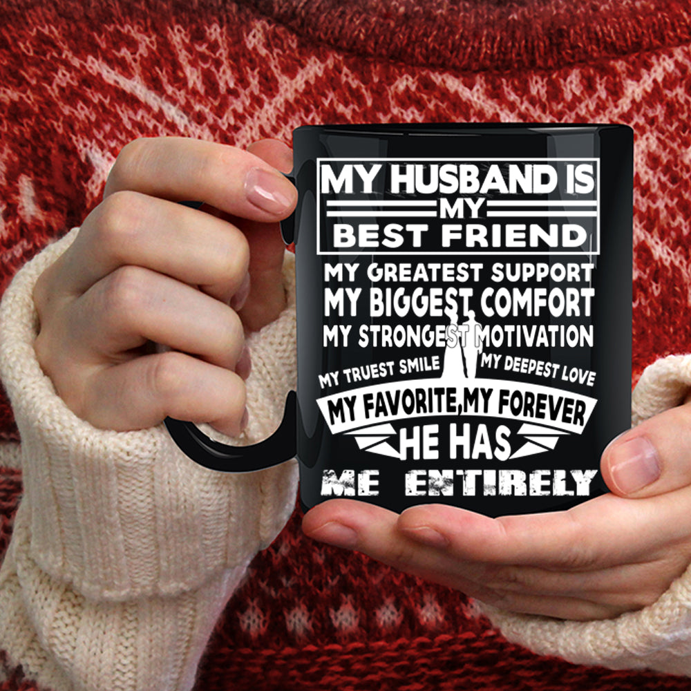 My Husband Is My Best Friend Coffee Mug My Favorite My Forever