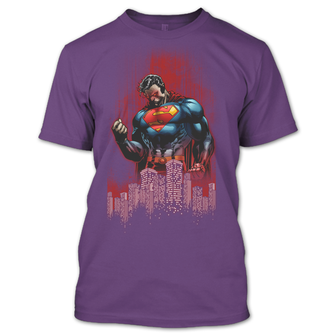 09acaca0a5a28 Superman Returns In City Of Heroes Superman T Shirt – Premium Fan Store