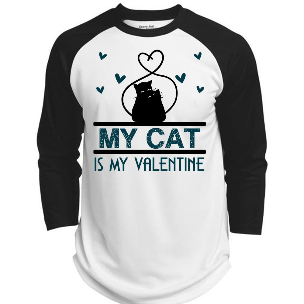 1520840d A black t-shirt with the shopify logo · My Cat Is My Valentine T Shirt, I  Love Cat T ...