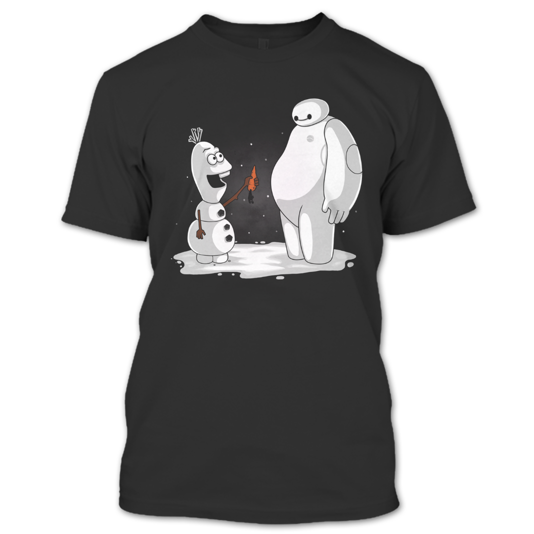 Baymax Olaf Best Friends Forever T Shirt Christmas Is Coming T