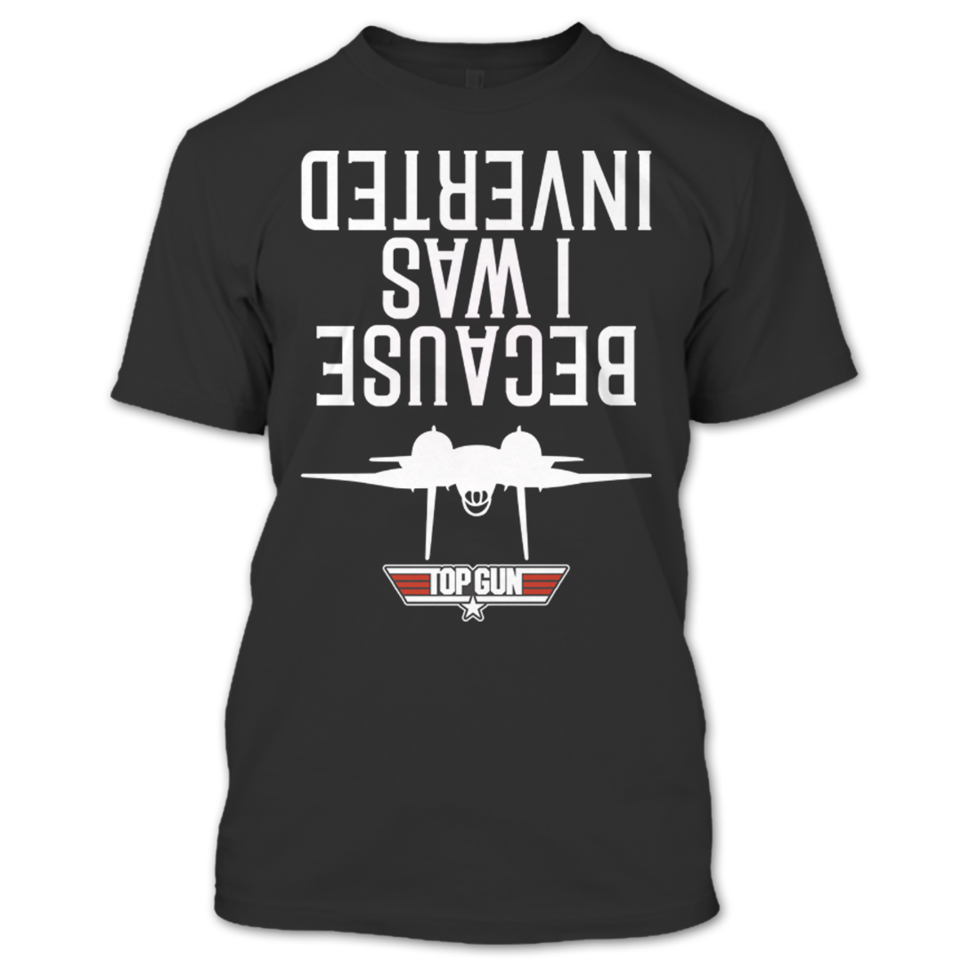 8ed64ee7f I Was Inverted Top Gun T Shirt. A black t-shirt with the shopify logo ...