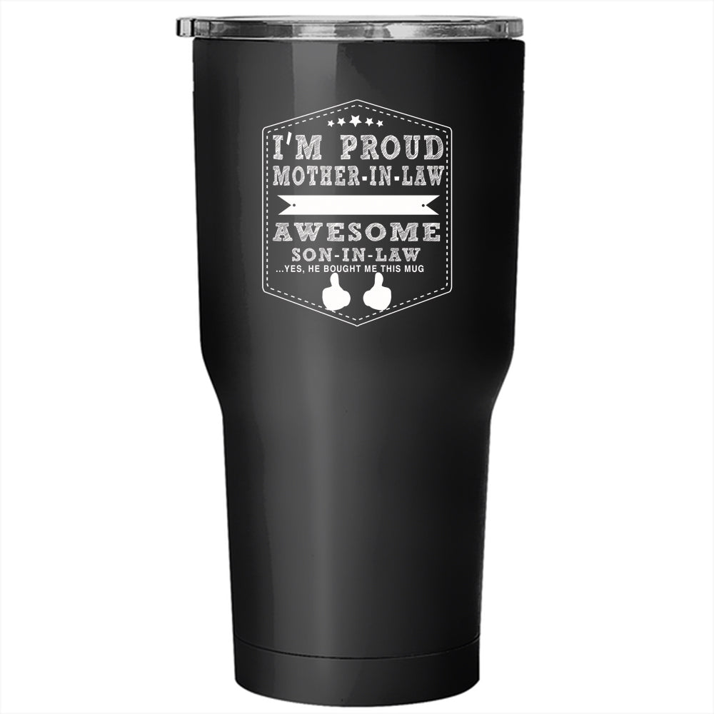 fd5405f0c2f ... Awesome Son In Law Travel Mug. A black t-shirt with the shopify logo ...