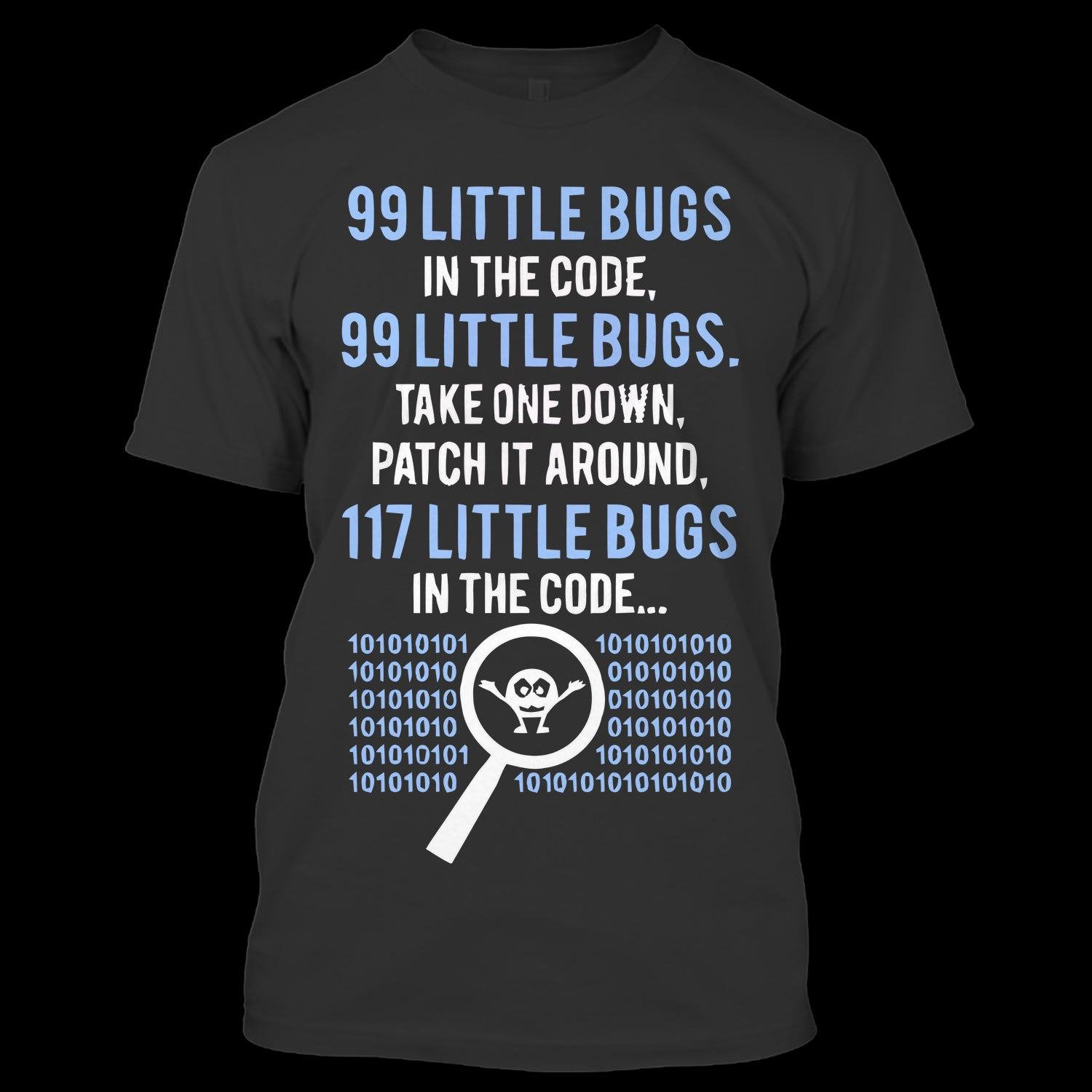 99 Little Bugs In The Code T Shirt A Black With Shopify Logo
