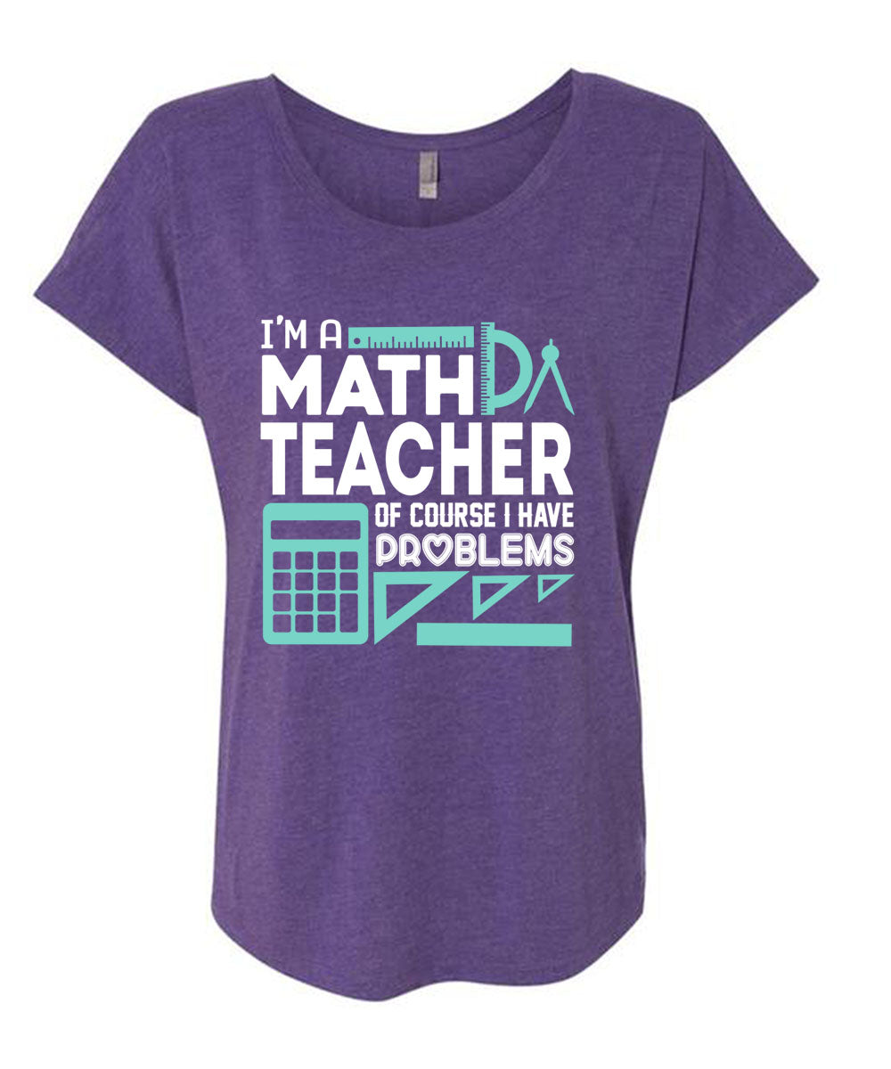 48ab4ebdf A black t-shirt with the shopify logo · I'm Math Teacher Of Course I Have Problems  T Shirt ...