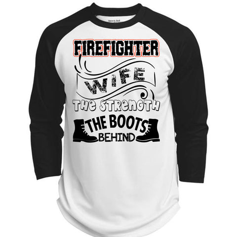 ec2eccd11 Firefighter Wife The Strength The Boots Behind T Shirt, Being A Firefighter  T Shirt, Awesome T-Shirts (Polyester Game Baseball Jersey)