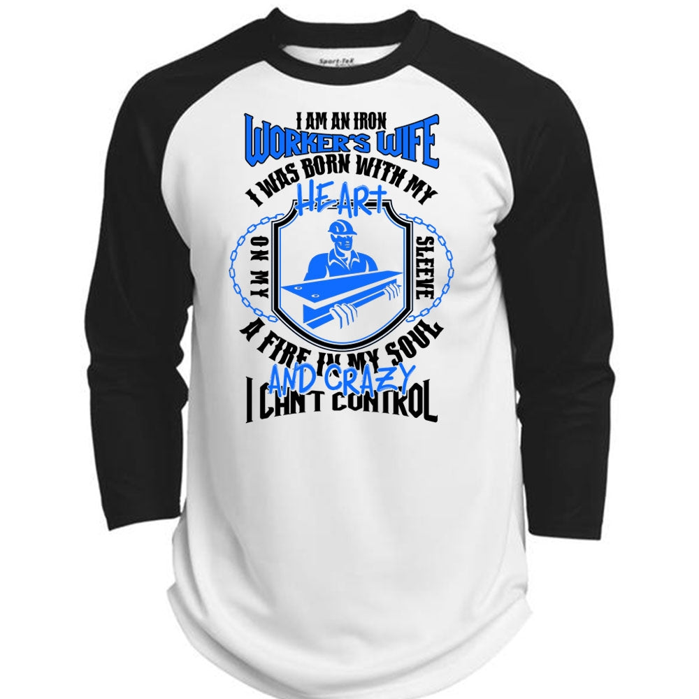 I Am An Ironworker's Wife T Shirt, I Love Ironworker T Shirt, Awesome  T-Shirts (Polyester Game Baseball Jersey)