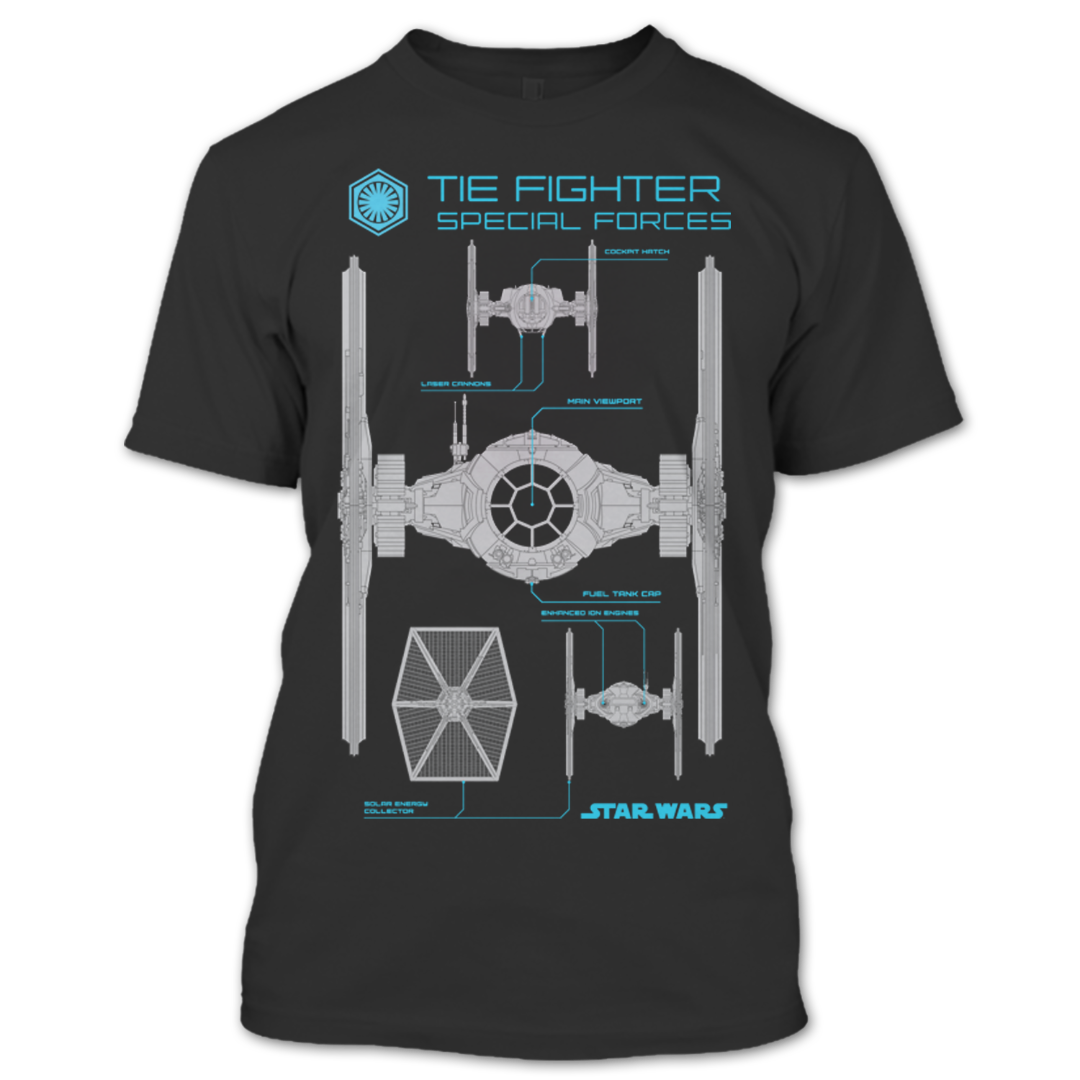 95c18bde Tie Fighter Special Forces Star Wars T Shirt – Premium Fan Store