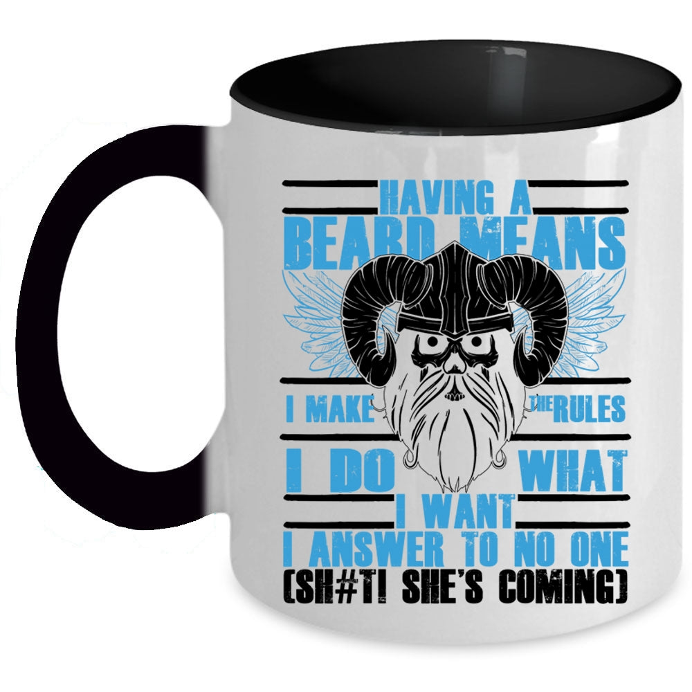 f5063eb1 A black t-shirt with the shopify logo · Funny Gift For Bearded Men Coffee  Mug, Having A Beard Means I Make The Rules ...