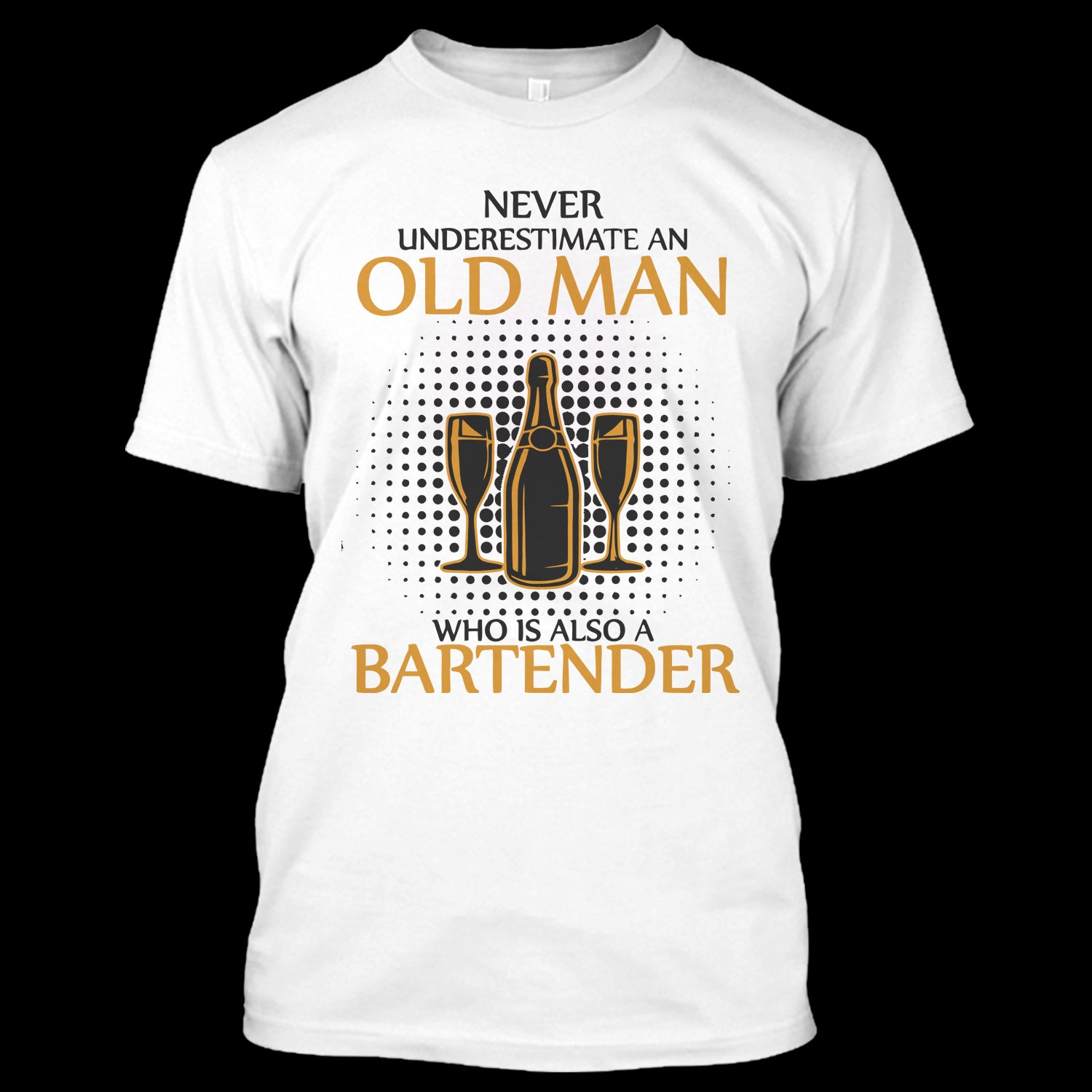 e2f85d18 An Old Man Also A Bartender T Shirt, Bartender Shirt, Jobs Shirt ...
