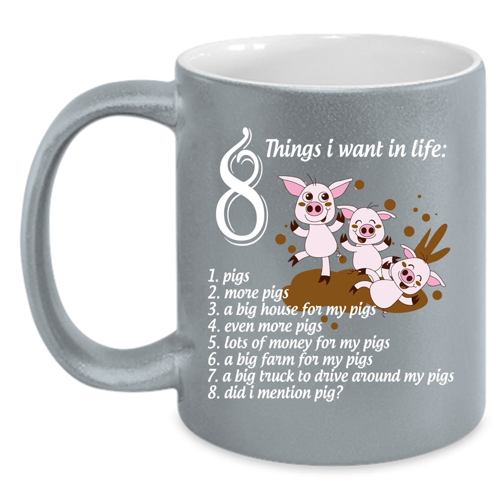 MugLove Things I Pigs Life 8 In Want Coffee Cup xBCdore