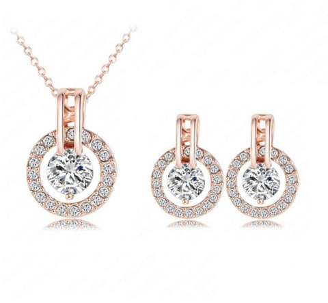 Rose Gold Necklace & Earring