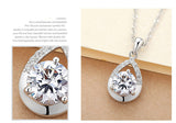 Purple White Crystal CZ Necklace Pendant