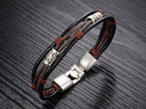Genuine Leather Man Bracelet