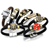 Naruto Konoha Black Butler Detective Conan Three Hook Jade One Piece Final Fantasy Wristband
