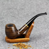 Smoking Ebony Wooden Pipe