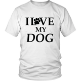 Exclusive I Love My Dog White Shirt