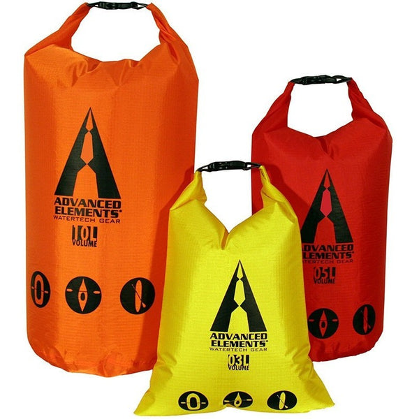 Advanced Elements Kayaking Accessory Packlite Roll Top Dry Bag Set