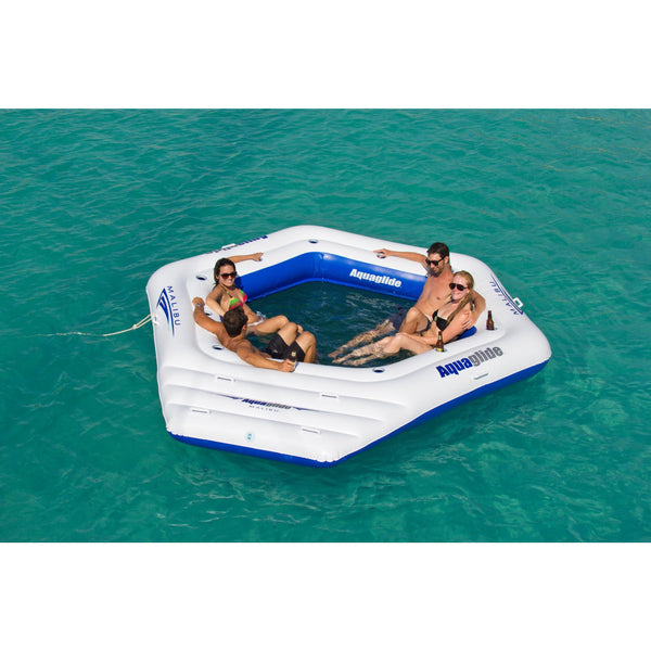 Aquaglide Lounges & Floats Aquaglide Malibu Island 10 Person Inflatable Island Lounge