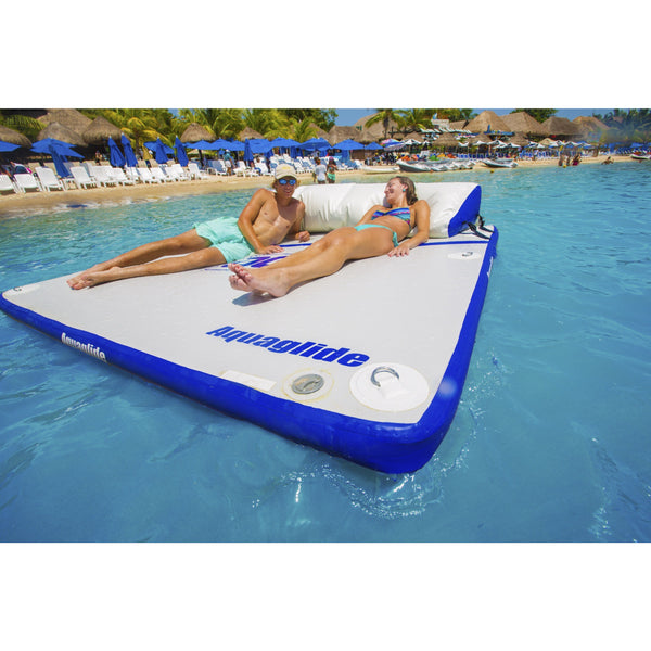 Aquaglide Lounges & Floats Aquaglide Sundeck Inflatable Island Aqua Swim Platform