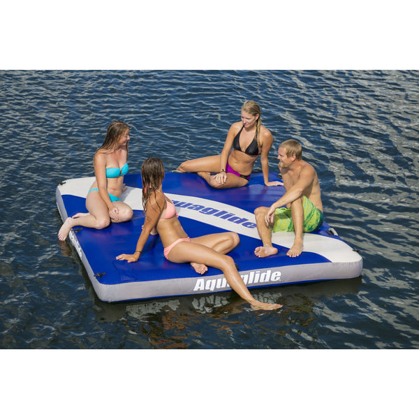 Aquaglide Towable Aquaglide Airport Classic Inflatable Towable Swim Platform Free Tow Rope