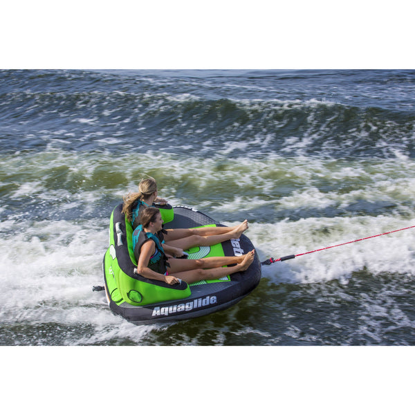 Aquaglide Towable Aquaglide Retro 2 - 2-Person Inflatable Towable Ski Tube Free Tow Rope