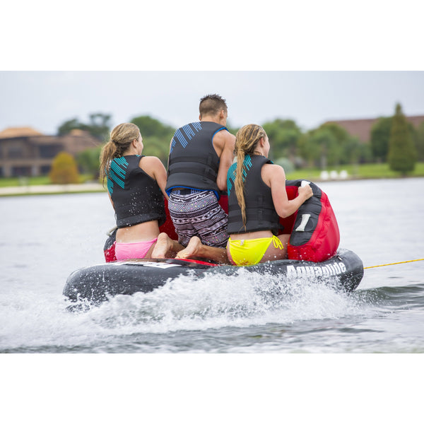 Aquaglide Towable Aquaglide Retro 3 - 3-Person Inflatable Towable Ski Tube Free Tow Rope