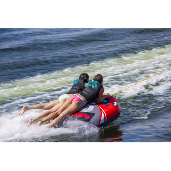 Aquaglide Towable Aquaglide Spitfire 60 2-Person Inflatable Towable Ski Tube with Free Tow Rope and 12V Pump