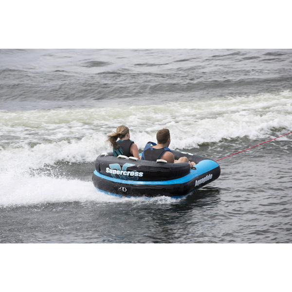 Aquaglide Towable Aquaglide Supercross 2 -Person Inflatable Ski Tube with Free Towrope