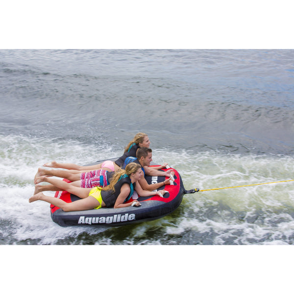 Aquaglide Towable Aquaglide Synchro 3-Person Inflatable Towable Ski Tube with Free Towrope