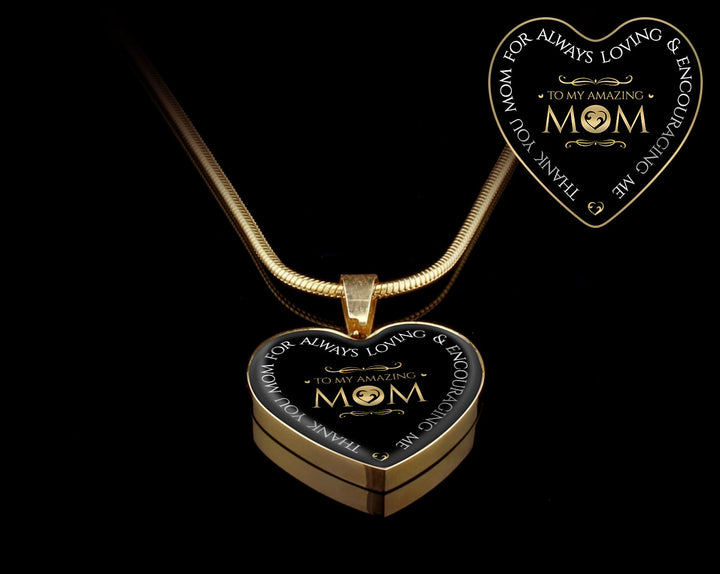 Heart g pendant to my amazing mom necklace heart g pendant to my amazing mom aloadofball Images