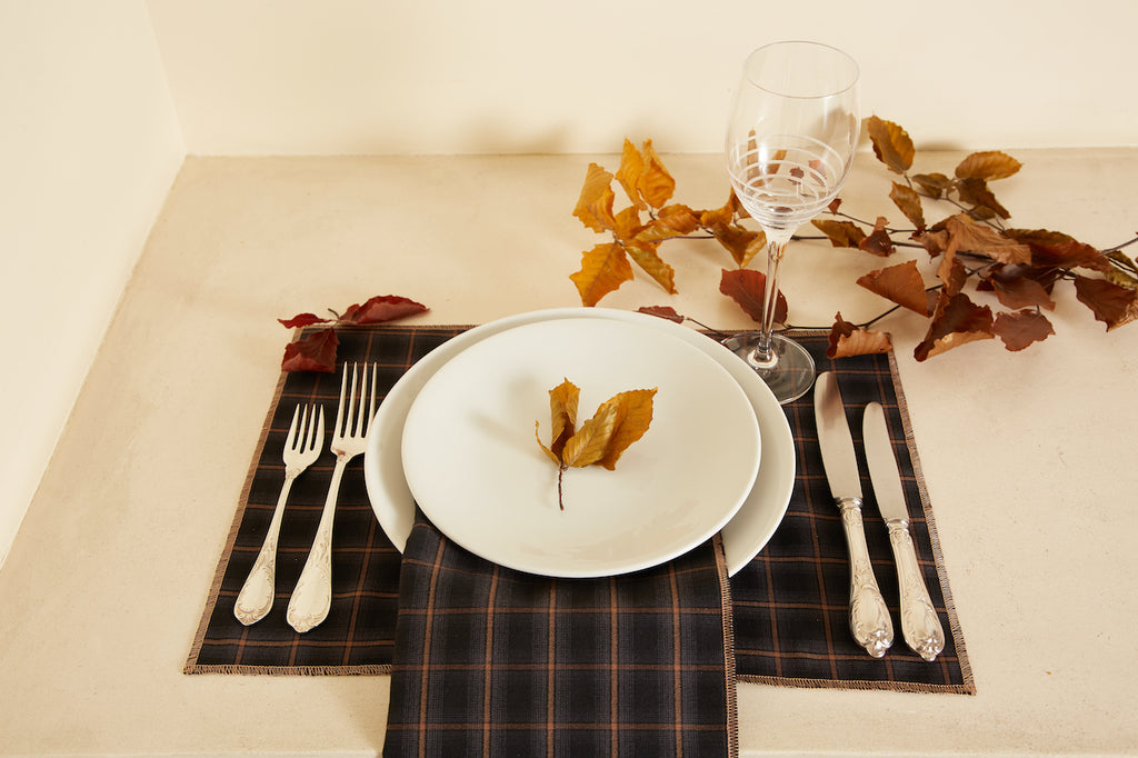 Charcoal Checkered Table Placemat