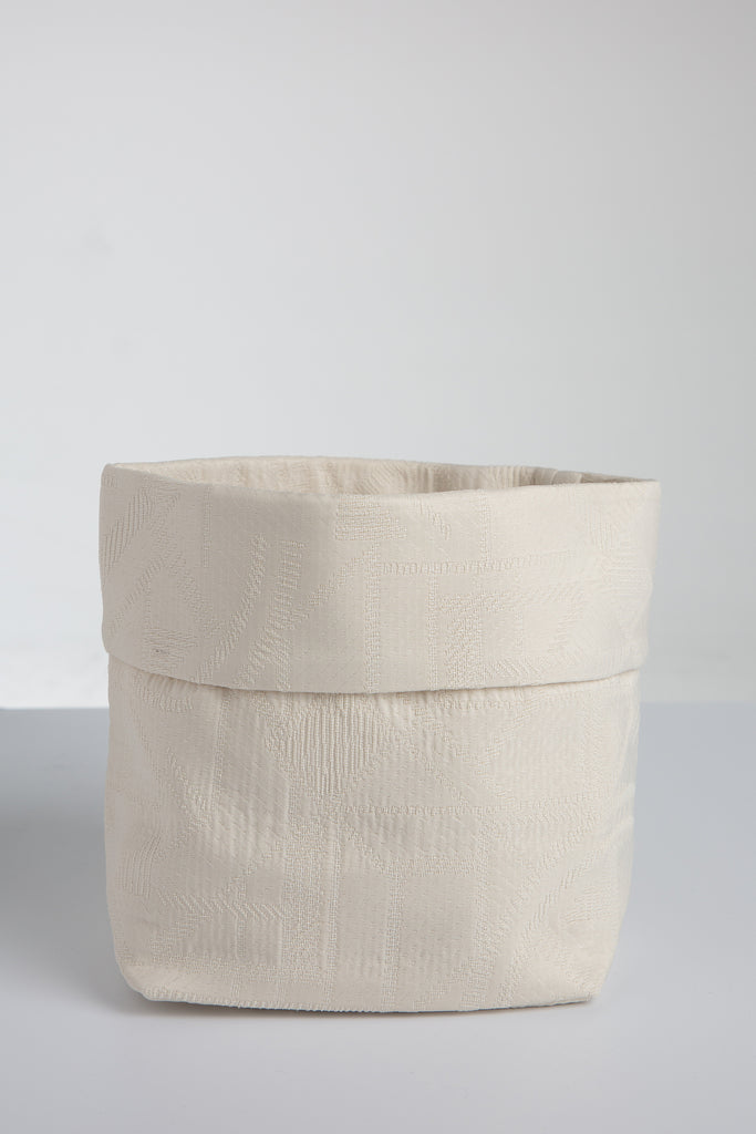 Off  White Fabric Basket