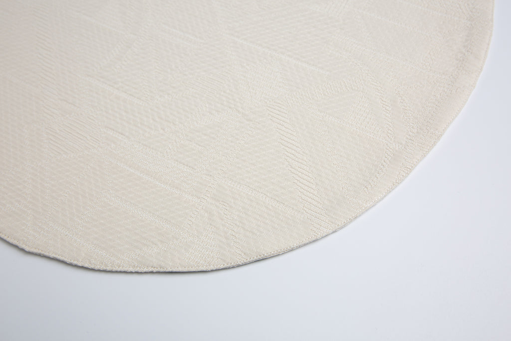 *KAGE PRE-ORDER 6-8 Weeks* Off  White Round Placemat