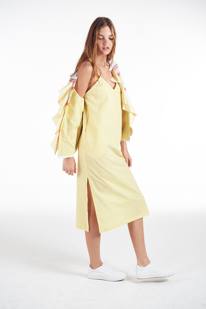 Canary Chex Dress