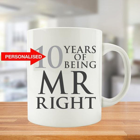Personalized Years Of Being MR. and MRS. Right